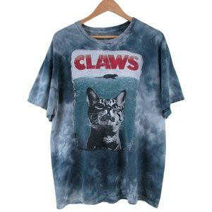 Vintage Claws Graphic Blue Tie Dye Tee Size XL